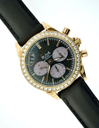 18K Omega De Ville Coaxial Chronograph Watch