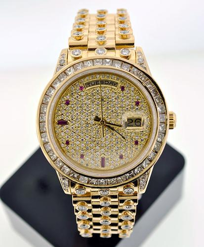 18K Rolex Presidential W/ Rubies and Diamonds