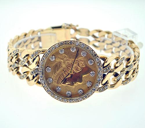 One-Of-A-Kind 14K Watch Designed/Owned By Tony Curtis