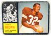 Rare 1962 Jimmy Brown, Cleveland Browns Football Card