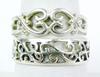 2 Sterling Silver Filigree Bands