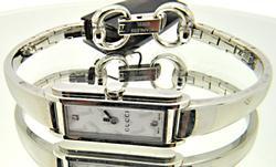 Gucci Womens YA109504 109 Silver Boot Pattern Watch