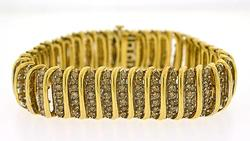14KT Yellow Gold 10 Carat Diamond Bracelet