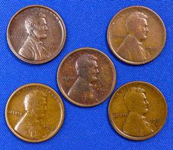Early Wheat Cent Lot 1909-1913-S