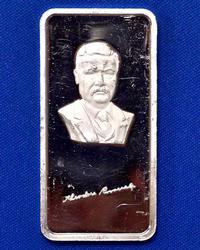Fine Silver 1oz Bar, Theodore Roosevelt