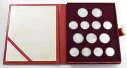 1980 Russia 13 Coin Moscow Olympics Silver Proof Set - Velvet Book