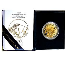 Proof Buffalo Gold Coin One Ounce 2007-W