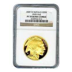 Certified Proof Buffalo Gold 2009-W PF70 Ultra Cameo