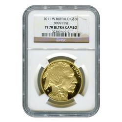 Certified Proof Buffalo Gold 2011-W PF70 Ultra Cameo