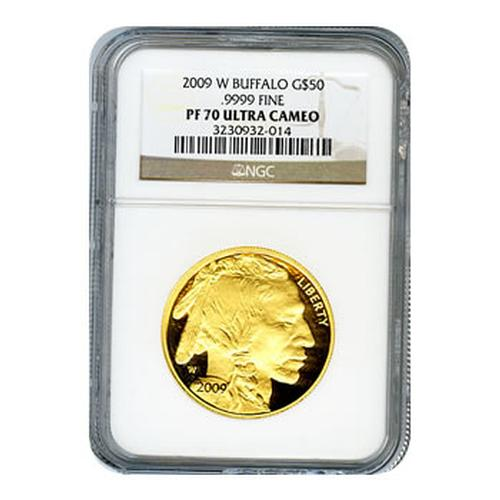Certified Proof Buffalo Gold 2009-W PF70 Ultra Cameo