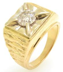 Mens High Quality 1CT Diamond Ring