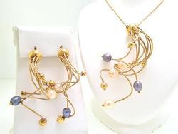 Very Unique Art Deco Earrings & Necklace Set