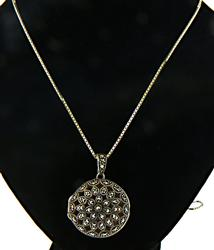 Marcasite Locket Sterling Silver Necklace