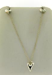 Sterling Silver Heary Necklace with Earrings