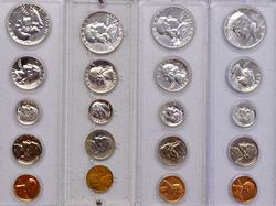4 US Proof Sets in Holders, 58, 61, 62, 64