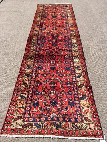 Unusual Design 1950s Authentic Handmade Persian Rug