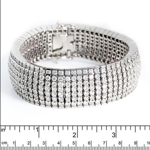 48+ Carat Diamond 7 Row Bracelet Bracelet in 18kt Gold