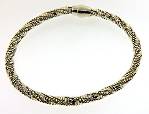 Sterling Silver Magnetic Tubular Bracelet