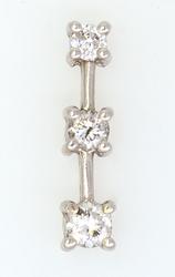 Diamond Ladder Pendant in White Gold