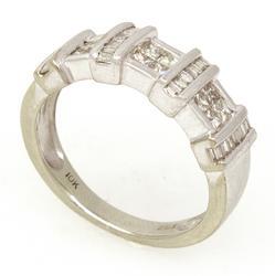 Brilliant Diamond Ring in White Gold, Size 5.5