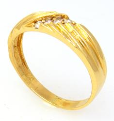 Diamond Band in Gold, Size 11