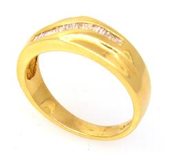Fancy Diamond Band in Gold, Size 8.5