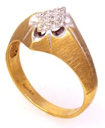 Diamond Pave Ring in Gold, Size 9