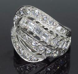 18K White Gold 1.30CTW Diamond Ring