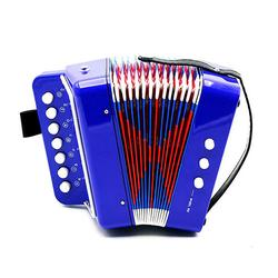 Mini 17-Key Accordion Durable 8 Bass Educational Toy