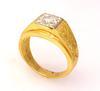 Brilliant Diamond Signet Ring in Gold, Size 9.75