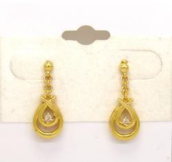Beautiful Diamond Accent Drop Earrings in Gold