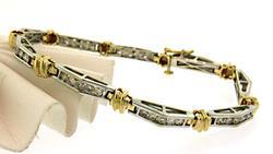 Excellent Two Tone Diamond Channel Set Bracelet