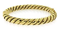Elegant Twisted Bangle with Roping