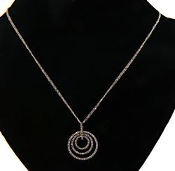 Winning Nested Circle Pendant Necklace with Diamonds