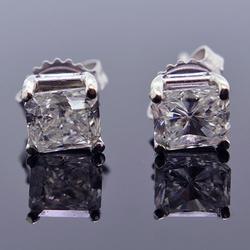 Amazing 1.90 CTW  Diamond Studs