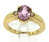 Amethyst and Diamond Ring in 14kt