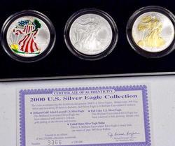Colorized 2002 Silver Eagle Set in Box