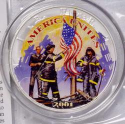 9-11 American Heroes Colorize Silver Eagle, 2001