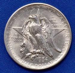 Brilliant 1934 Texas 50c US Silver 50c Commem