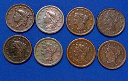 Great Large Cent Lot of 8 Coins