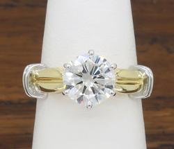 Certified 1+CT Round Brilliant Cut Engagement Ring