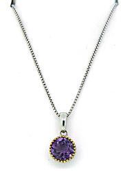 Le Vian Round Amethyst Necklace