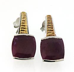 Le Vian Sterling Silver Ruby Earrings