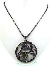 Amethyst & Citrine Pendant Necklace
