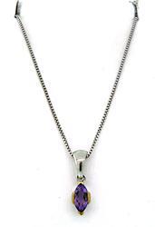 Le Vian Sterling Silver Amethyst Necklace