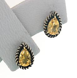 Pair of Le Vian Designer Citrine Earrings