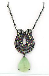 Carlo Viani Multi Color Sapphire & Gemstone Necklace