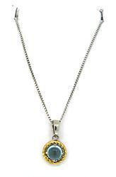 Sterling Silver Le Vian Blue Topaz Pendant Necklace