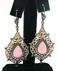 Le Vian Dangle Earrings with Pink Gemstones