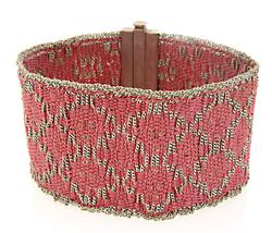 Le Vian Sterling Silver Woven Fabric Bracelet
